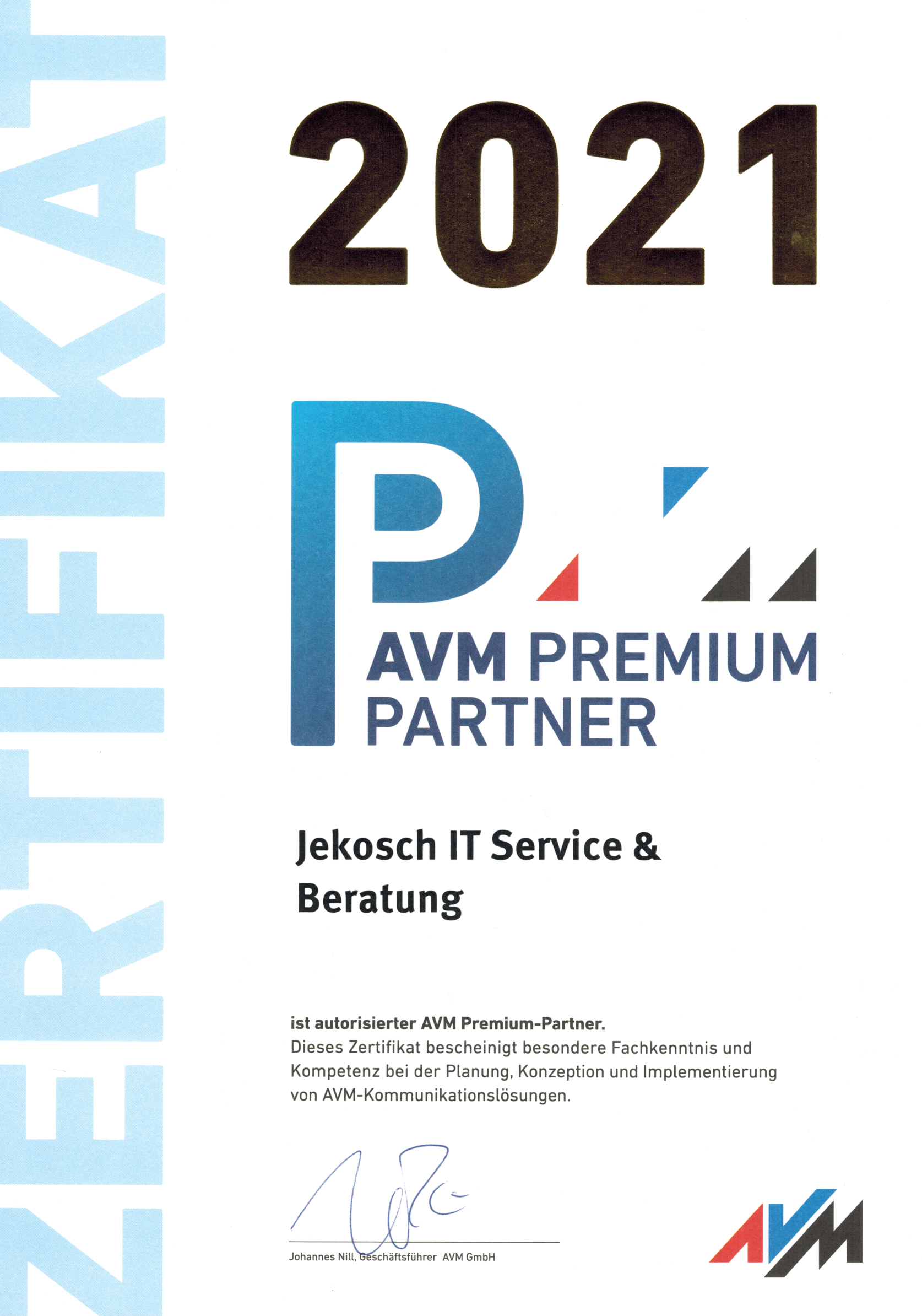 AVM Premiumpartner 2021
